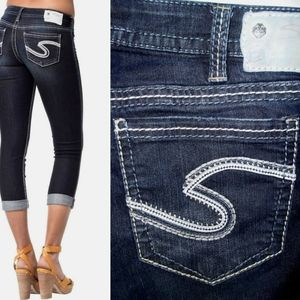 Silver Jeans Frances Capri Jeans Size 31